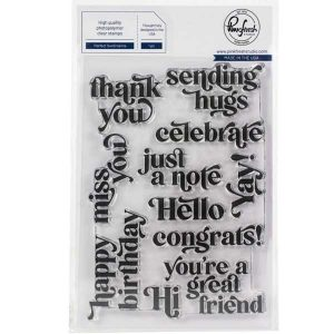 Pinkfresh Studio Perfect Sentiments Stamp Set