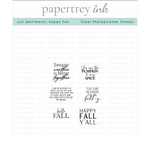 Papertrey Ink Just Sentiments: Happy Fall Stamp