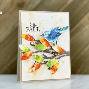 Papertrey Ink Just Sentiments: Happy Fall Stamp class=