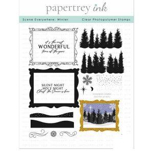 Papertrey Ink Scene Everywhere: Winter Stamp