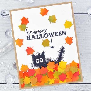Papertrey Ink Boo Black Cat Stamp class=
