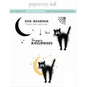 Papertrey Ink Boo Black Cat Stamp