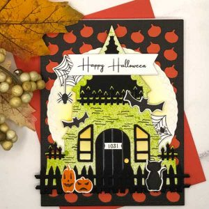 Papertrey Ink Haunted House Stamp class=