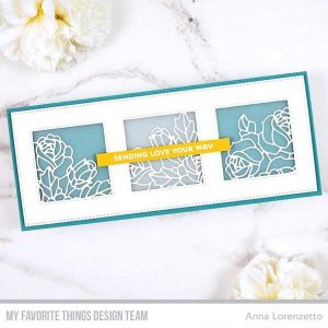 My Favorite Things Slimline Stitched Square Trio Die-namics class=