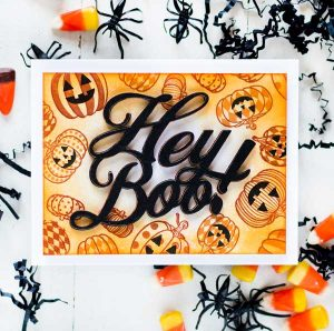 Papertrey Ink To Die For Sentiments: Hey Boo Die class=