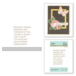 Spellbinders Everyday Sentiments II Glimmer Hot Foil Plate class=