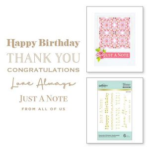 Spellbinders Essential Glimmer Sentiments class=