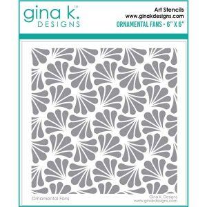 Gina K Designs Ornamental Fans Stencil