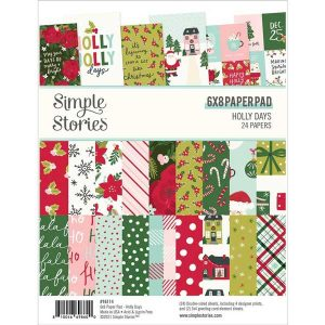 Simple Stories Holly Days Collection Paper Pad