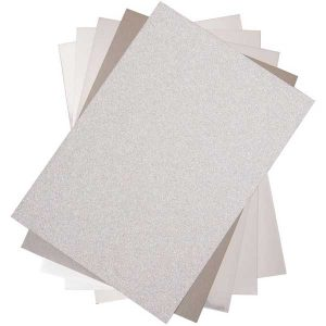 Sizzix Opulent Cardstock Pack - Silver class=