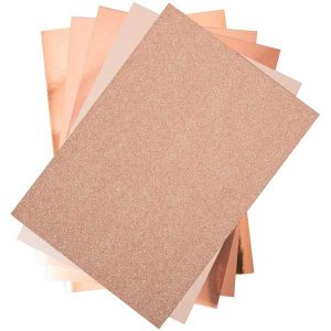 Sizzix Opulent Cardstock Pack - Rose Gold class=