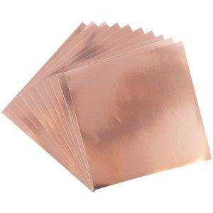 Sizzix Surfacez Aluminium Metal Sheets - Rose Gold class=