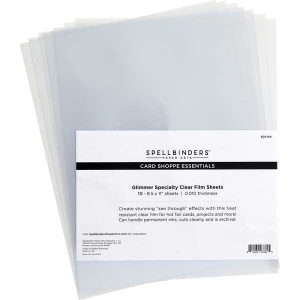 Spellbinders Glimmer Specialty Clear Film Sheets - 10 pack
