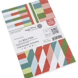 Waffle Flower Paper Pad - Christmas Stripes class=