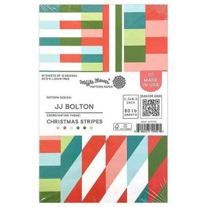Waffle Flower Paper Pad - Christmas Stripes