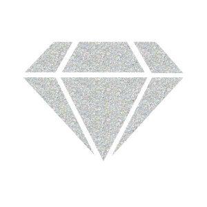 IZINK Diamond 24 Carats Glitter Paint - Silver class=