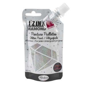 IZINK Diamond 24 Carats Glitter Paint - Silver
