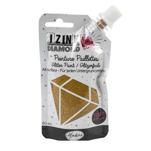 IZINK Diamond 24 Carats Glitter Paint - Gold