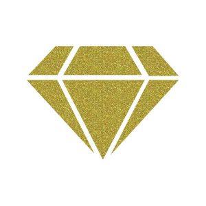 IZINK Diamond 24 Carats Glitter Paint - Light Gold class=