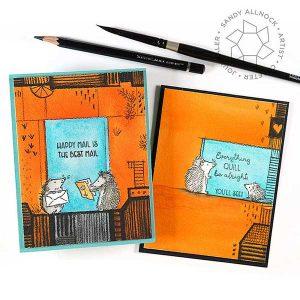 Colorado Craft Company Hedgehog Day Stamp class=