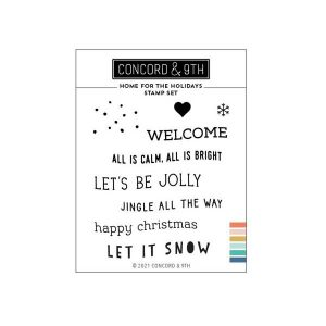 Concord & 9th Home For The Holidays Stacks Stamp Set