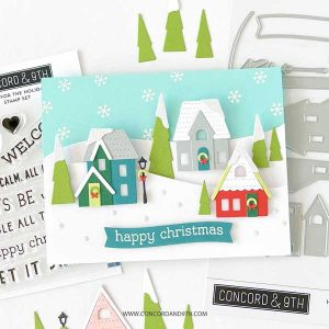 Concord & 9th Home For The Holidays Stacks Stamp Set class=