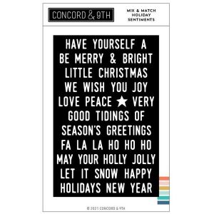 Concord & 9th Mix & Match Holiday Sentiments Stamp Set