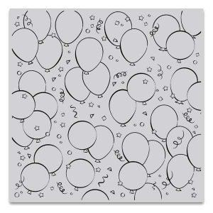 Hero Arts Birthday Balloons Bold Prints Stamp