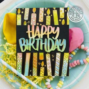 Hero Arts Candles Bold Prints Stamp class=