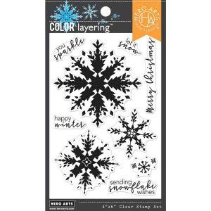 Hero Arts Color Layering Snowflake Stamp