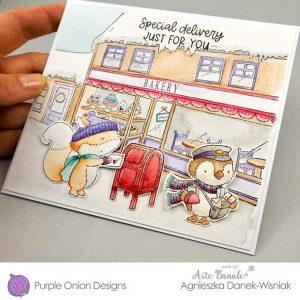 Purple Onion Designs Wallace (penguin mail carrier) class=