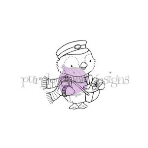 Purple Onion Designs Wallace (penguin mail carrier)