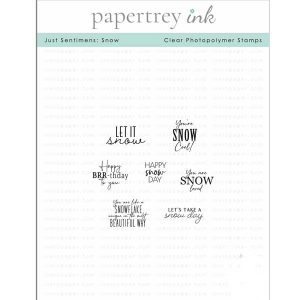 Papertrey Ink Just Sentiments: Snow