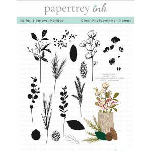 Papertrey Ink Sprigs & Sprays: Holiday Stamp