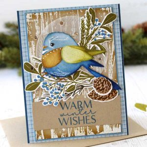 Papertrey Ink Weathered Wood Background Stamp class=