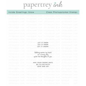 Papertrey Ink Inside Greetings: Snow