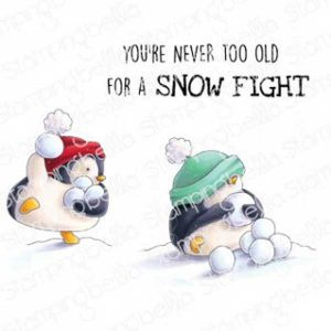 Stamping Bella Snowfight Penguins Stamp class=