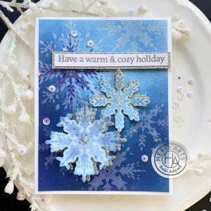 Hero Arts Color Layering Snowflake Frame Cuts class=