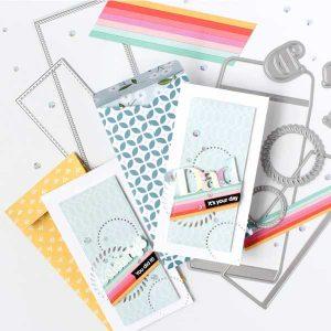 Pinkfresh Studio Mini Slimline Essentials Bundle Die Set class=