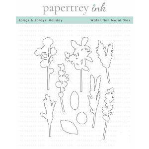 Papertrey Ink Sprigs & Sprays: Holiday Die