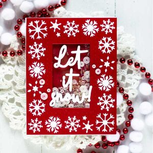 Papertrey Ink Border Bling: Snow Flakes Die class=