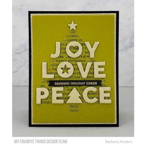 My Favorite Things Christmas Tree Background Stencil class=