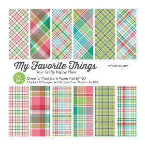 My Favorite Things Cheerful Plaid Paper Pad