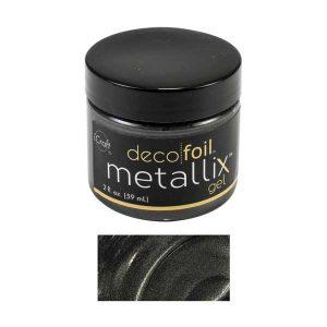iCraft Deco Foil Metallix Gel - Black Ice