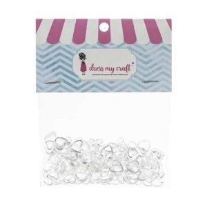 Dress My Craft Heart Water Droplets - Assorted
