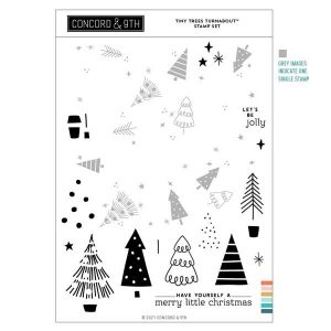 Concord & 9th Tiny Trees Turnabout Stamp Set