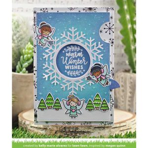 Lawn Fawn Magic Holiday Messages Stamp class=