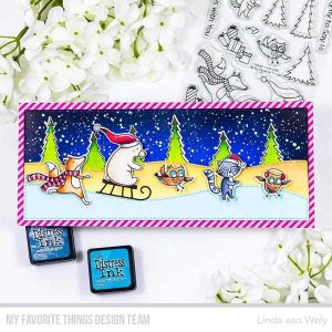 My Favorite Things Put the Jolly in the Holidays Stamp class=