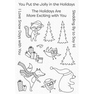 My Favorite Things Put the Jolly in the Holidays Stamp