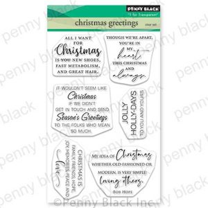 Penny Black Christmas Greetings Stamp Set
